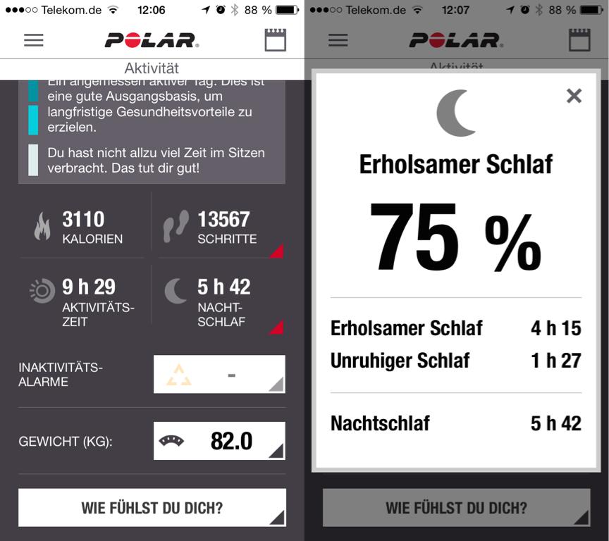 Polar Flow App Sleep