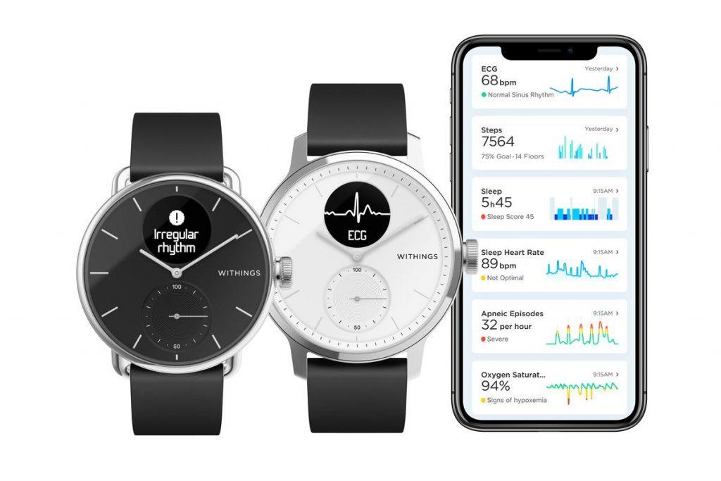 Fitness-Tracker und Gesundheitsuhr Withings-Scanwatch