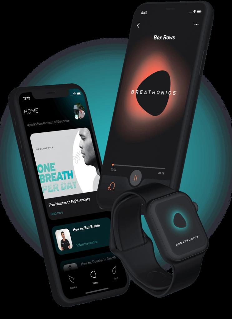 Breathonics ist eine App für geführte Atemübungen